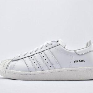 Prada x adidas Superstar Core White Adidas Release 1