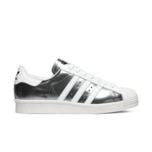 Prada x adidas Superstar Silver Metallic
