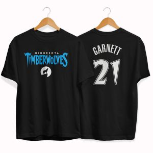 Timberwolves 21 Kevin Garnett black tee by slamdunk