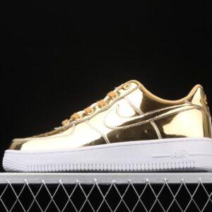 Wmns Nike Air Force 1 SP Liquid Metal Gold 1