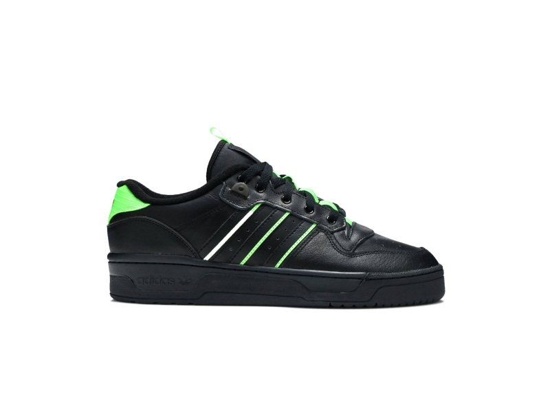 adidas Rivalry Low Core Black Solar Green