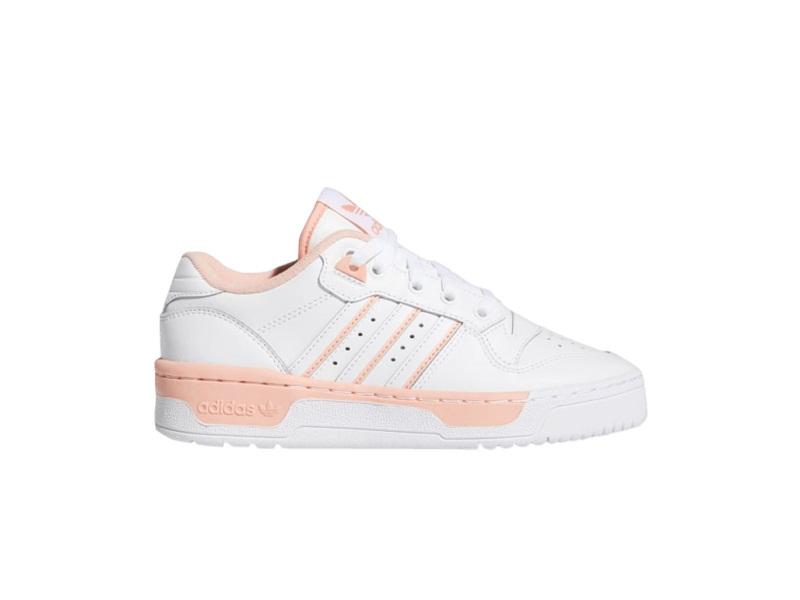 adidas Rivalry Low J White Glow Pink
