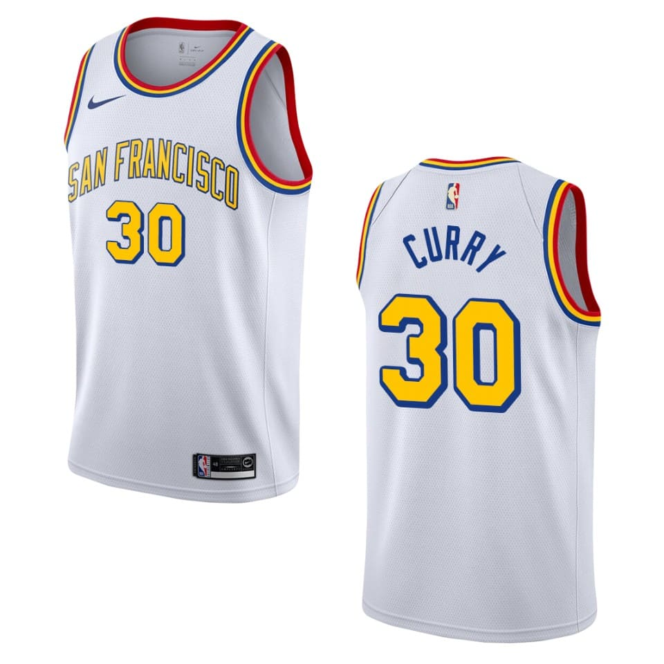 2019 20 mens stephen curry hardwood classics jersey white