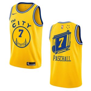 2019 20 mens warriors eric paschall hardwood classics jersey gold