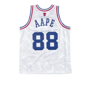 Aape x Mitchell Ness Swingman All Star 1988 Jersey White 1
