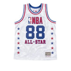 Aape x Mitchell Ness Swingman All Star 1988 Jersey White