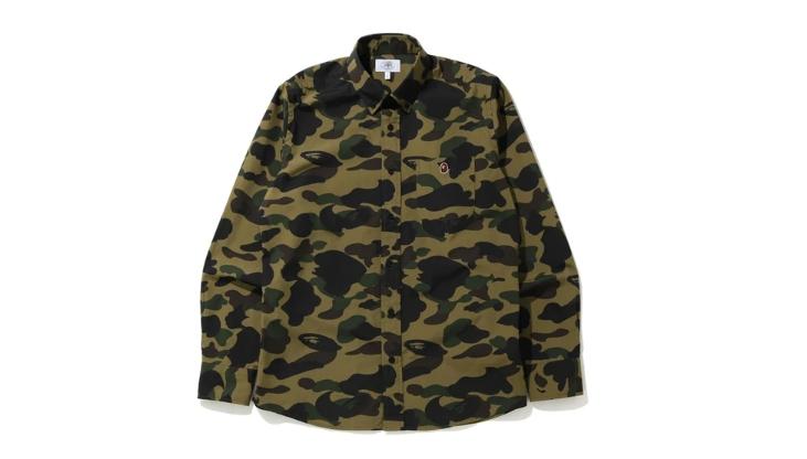 BAPE 1st Camo BD LS Shirt Green