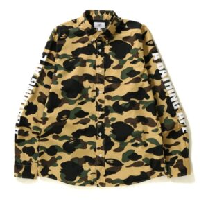 BAPE 1st Camo Bd Shirt Shirt Yellow