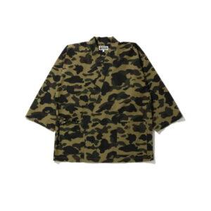 BAPE 1st Camo Kimono Shirt Green