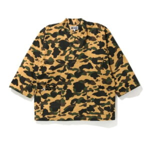 BAPE 1st Camo Kimono Shirt Yellow