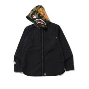 BAPE 1st Camo Shark Hoodie Shirt Black 1