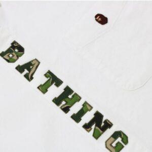 BAPE ABC Applique Oxford BD Shirt White 1