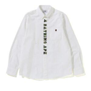 BAPE ABC Applique Oxford BD Shirt White