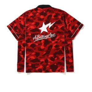 BAPE Color Camo Sta SS Shirt Red 1