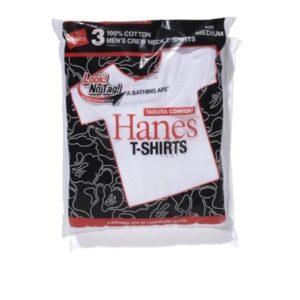 BAPE X Hanes3P T Shirts White 3