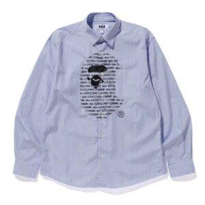 BAPE x Comme des Garcons Shirt Blue Black
