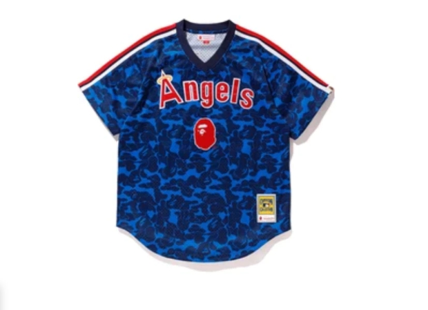 BAPE x Mitchell Ness Angels Jersey Navy