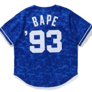 BAPE x Mitchell Ness Dodgers Jersey Blue 1