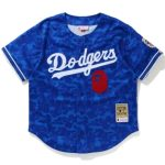 BAPE x Mitchell Ness Dodgers Jersey Blue