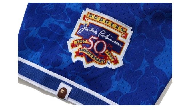 BAPE x Mitchell Ness Dodgers Jersey Blue 2