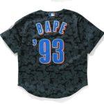 BAPE x Mitchell Ness Mets Jersey Black 1