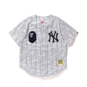 BAPE x Mitchell Ness Yankees Jersey White