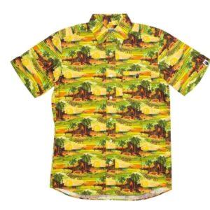 BAPE x Undefeated Island Woven Shirt Green