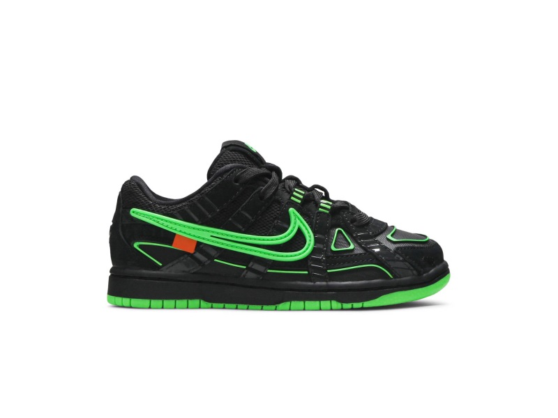Off White x Nike Rubber Dunk Green Strike PS