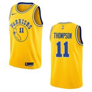mens warriors klay thompson hardwood classics jersey gold