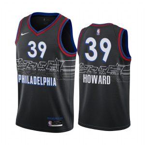 76ers dwight howard black city 2020 trade jersey
