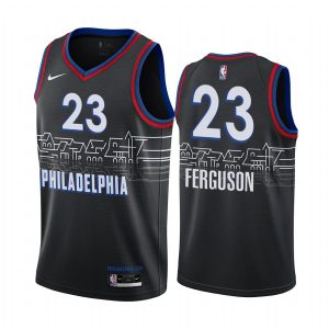 76ers terrance ferguson black city 2020 trade jersey
