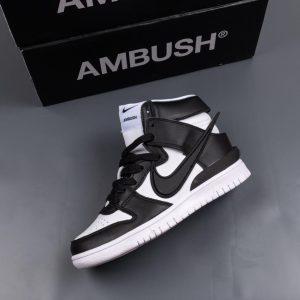 AMBUSH x Nike Dunk High Black White 1