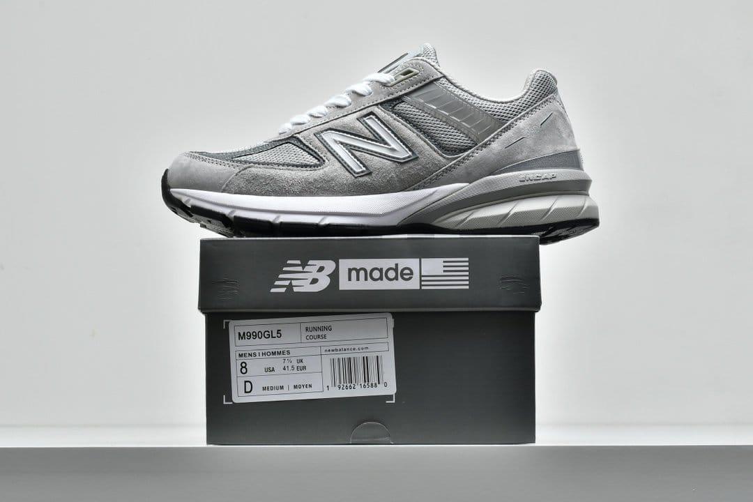 New Balance 990v5 Made In USA Grey 9