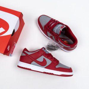 Nike Dunk Low Retro Medium Grey Varsity Red UNLV 2021 13