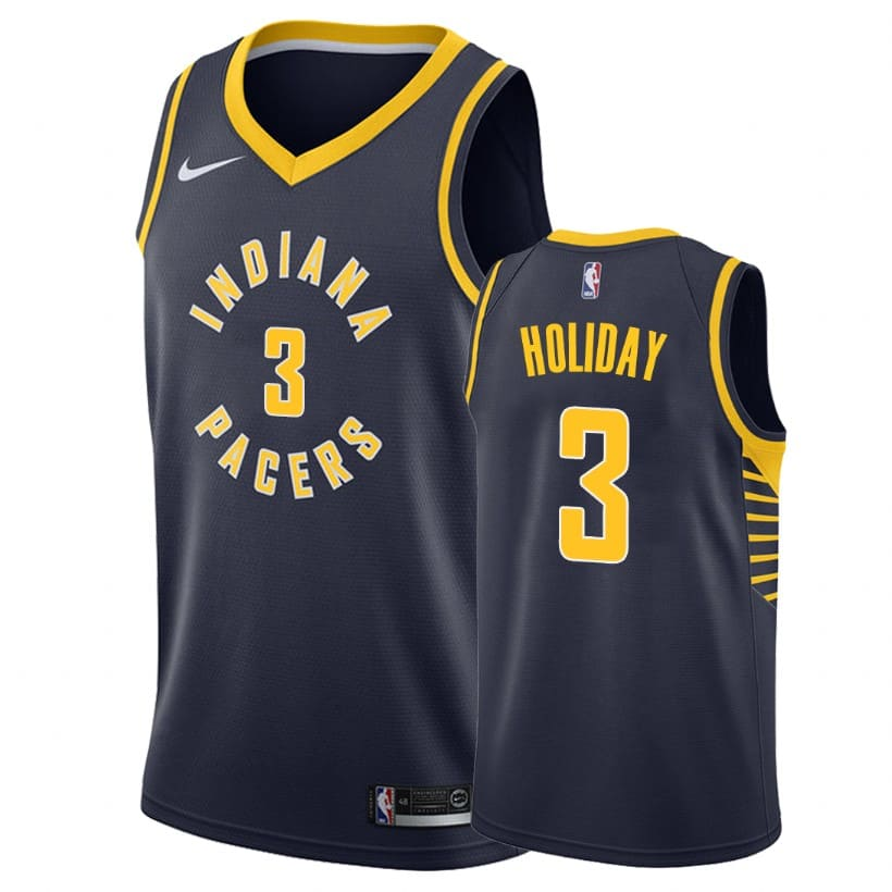 aaron holiday men navy icon edition jersey