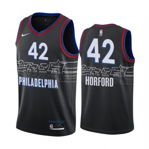 al horford 76ers black city edition boathouse row jersey