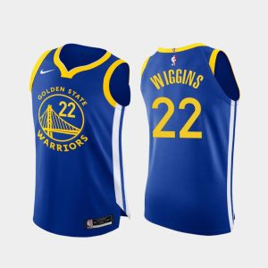 andrew wiggins warriors 2020 21 royal authentic icon edition jersey