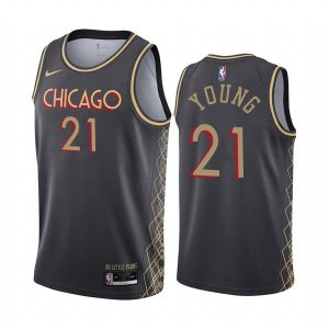 bulls thaddeus young black motor city edition no little plans jersey