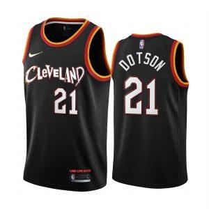 cavaliers damyean dotson black city jersey