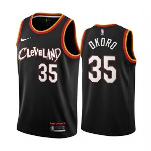cavaliers isaac okoro black city new uniform jersey
