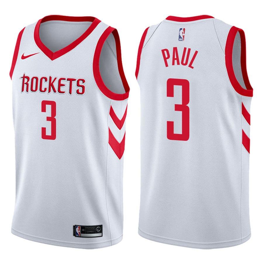 chris paul mens white rockets nba 2017 18 association jersey
