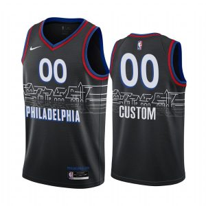 custom 76ers black city edition boathouse row jersey