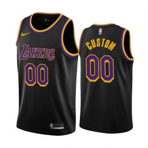 custom lakers 2020 21 earned edition black jersey