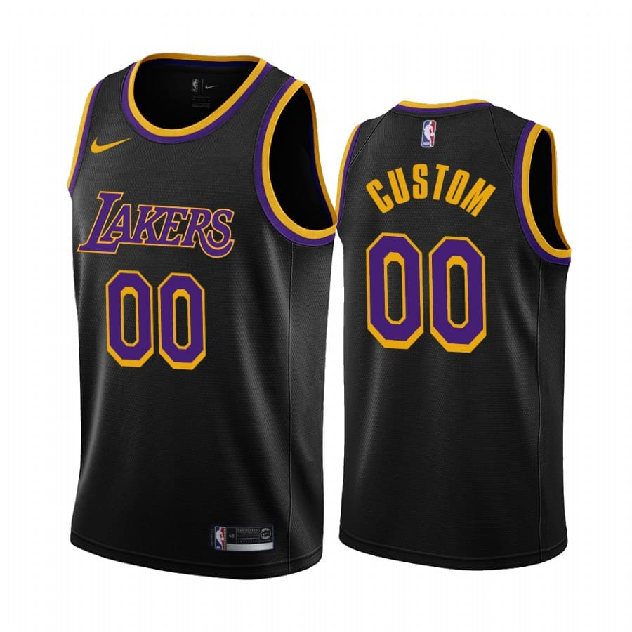 custom lakers 2020 21 earned edition black jersey