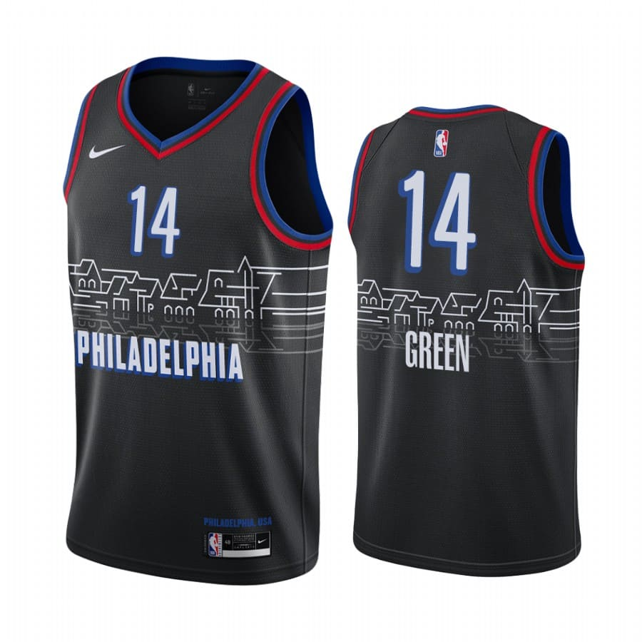 danny green 76ers black city edition 2020 2021 jersey