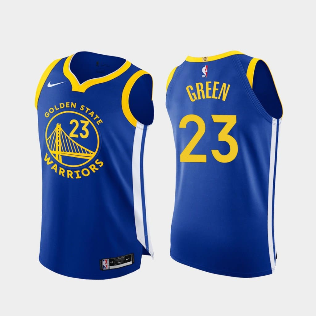 draymond green warriors 2020 21 royal authentic icon edition jersey
