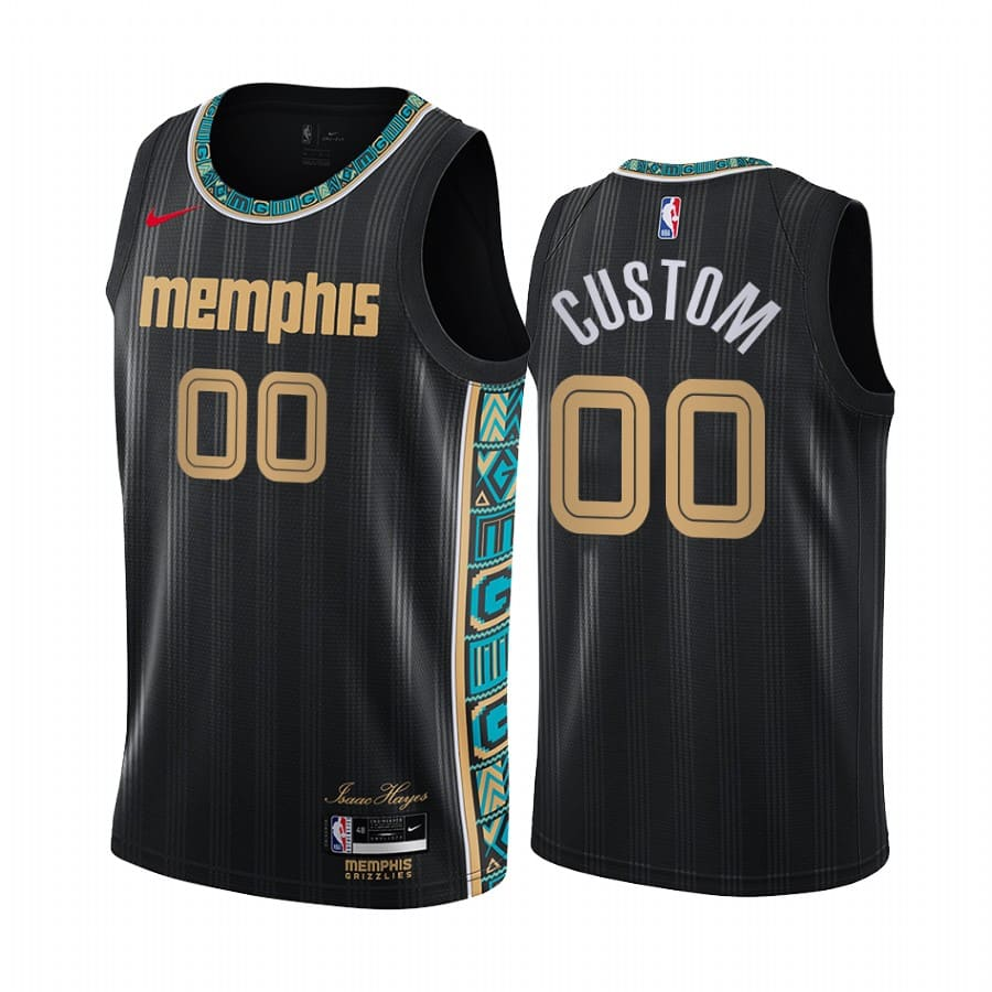 grizzlies custom black city new uniform jersey