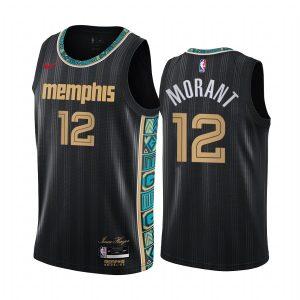 grizzlies ja morant black city new uniform jersey