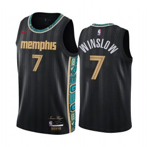 grizzlies justise winslow black city new uniform jersey