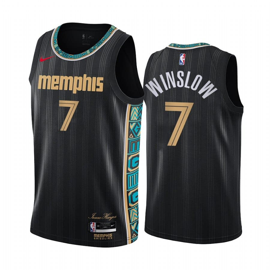 grizzlies justise winslow black city new uniform jersey